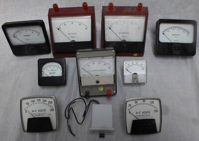 10 Vintage Steampunk Voltmeters Galvanometers Ammeters Lot 3