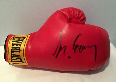 Gerry Cooney Autographed Signed Everlast Yellow Label Boxing Glove Rare & Crisp