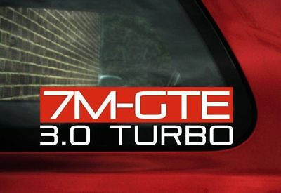 7MGTE 3.0 Turbo sticker for Toyota Supra mk3 III ,3.0 Turbo | classic