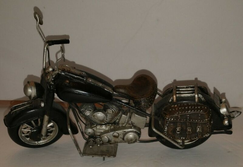 Metal Motorcycle Figurine. Fine details,  Great accent Home Decor & GIFT