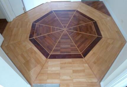 ~8m2 of Parquet Wooden Flooring laid in an Octagon pattern