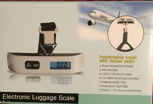 Electronic Luggage Scale Will Weigh Luggage Up To 110lbs With Room Temp Display - $4.20