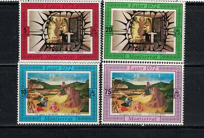 Montserrat 1972: #274-277 Easter, Religion, Paintings NH:Lot#12/30