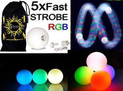 LED Glow Juggling Balls (Strobing Effect) Pro Glow Juggle Balls set of 5 + BAG
