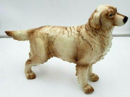 """Goebel Statue Large vintage dog golden Labrador retriever 15"""" long"""