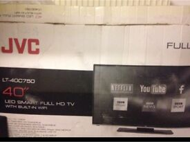 """JVC 40""""LED full HD tv with built in wifi"""