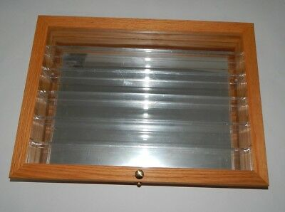 Hotwheels Wood And Glass Display Case 18x13x3 R17373