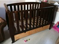 Kiddicouture Woodhouse Sleigh Cot bed