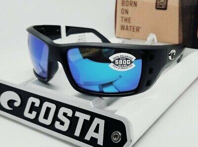 580G - COSTA DEL MAR black/blue mirror PERMIT POLARIZED sunglasses! NEW IN (Costa Del Mar Permit Sunglasses)