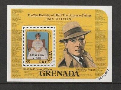 GRENADA 1982 BIRTH OF PRINCE WILLIAM  MINIATURE SHEET MNH