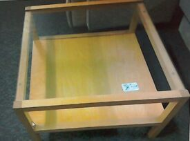 Light wood table square table #32958 £25