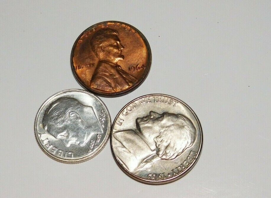 1960 s Dated 1c/5c/10c Magician s Coins - 2 Heads - 10c Is Silver........3178 - $5.95