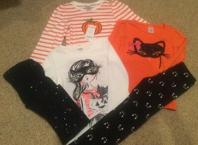 Gymboree Toddler Girl 5/6 Halloween Shirts & Pants Lot Of 5