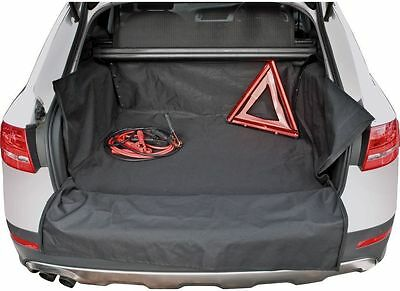 Car Parts - Heavy Duty Durable Water Resistant Car Boot Liner Mat & Bumper Protector - Black