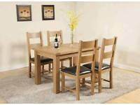 New solid charter table and chairs reduced to 175.00 boxed