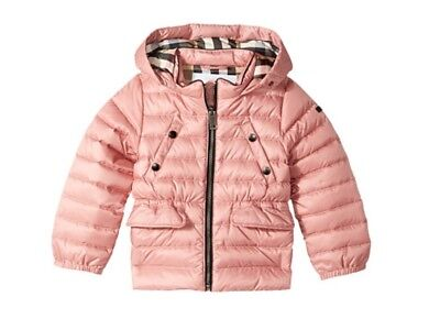 Burberry Kids Girls Mini Bronwyn Puffer (Infant/Toddler) Pale Rose Size 18M