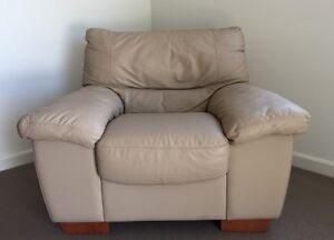 Single Seat Genuine Leather Lounge - moving sale Baulkham Hills The Hills District Preview