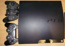 sony ps3 320gb with gta 5 game.2 controller and head phone
