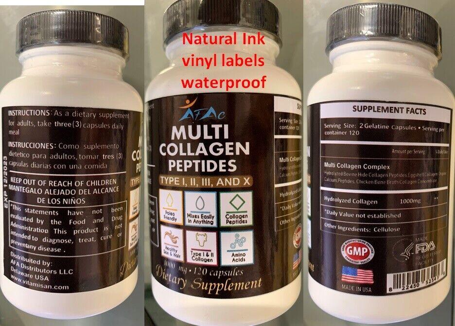 Multi Collagen Peptide protein 120 Caps 100o mg Type I,II,III,X Anti-Aging keto  1