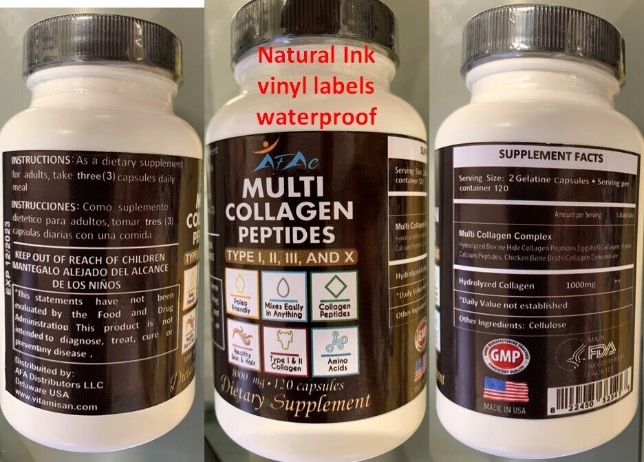 Premium Collagen Peptides Pills Hydrolyzed Anti-Aging (Types I,II,III,X) 1