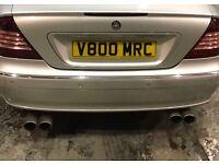 Private registration plate for sale V800 MRC (V8 merc)
