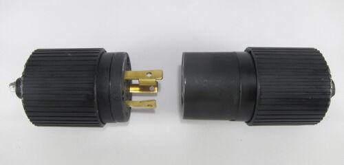 Hubbell MALE FEMALE NEMA 30A 250VAC Twist Lock Plug pair L6-30P L6-30R -NEW!!