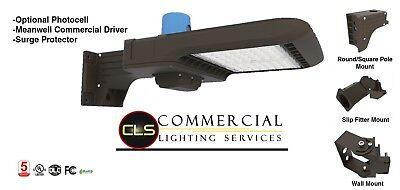 LED 100/150/185/250 Watt Shoebox Parking Lot Pole Lights Meanwell Driver