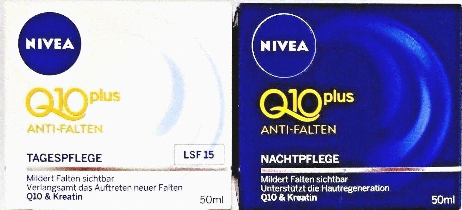 NIVEA Q10 Plus Anti Falten SET Nachtpflege 50ml + Tagespflege50ml  100ml/16,11