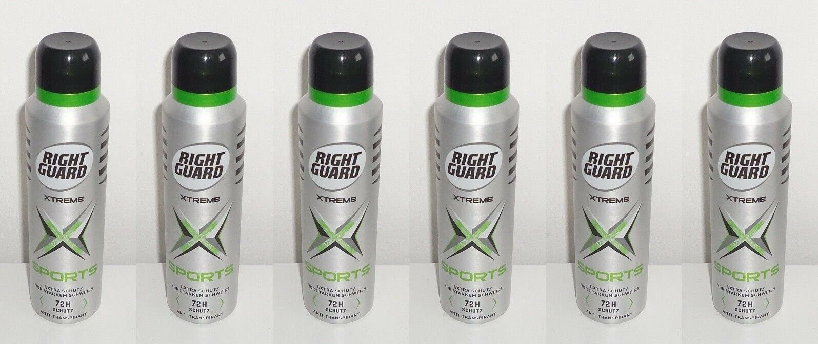 (1L=17,67€) 6x Right Guard Xtreme Sports Deo Spray , 6x150ml