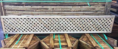 6x1 Elite Privacy Diamond Trellis 183 x 30 Garden Lattice Fence Topper