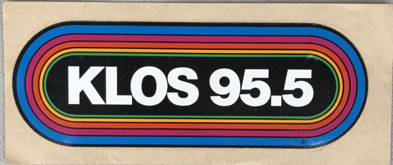 LOS ANGELES Radio Station Large RAINBOW Sticker - 95.5 KLOS