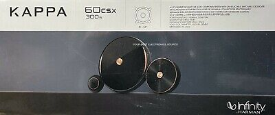 "NEW Infinity KAPPA 60CSX, 6-1/2"" Component Car Audio Speakers (1 Pair) 6.5"""