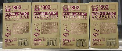 4 - Packs of S Scale - KADEE 802 Plastic S Scale Couplers with Draft Gear Boxes
