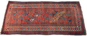 Antiker Kazak Teppich 19. jahrhundert Gendje 250 cm x 112 cm