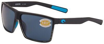 Costa Del Mar Rincon Sunglasses RIN-179-OGP Smoke Crystal 580P Grey (Del Sunglasses)