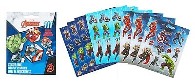111 Marvel Avengers Stickers Party Favors Teacher Supply book 9 sheets Hulk Thor - Avenger Party Favors