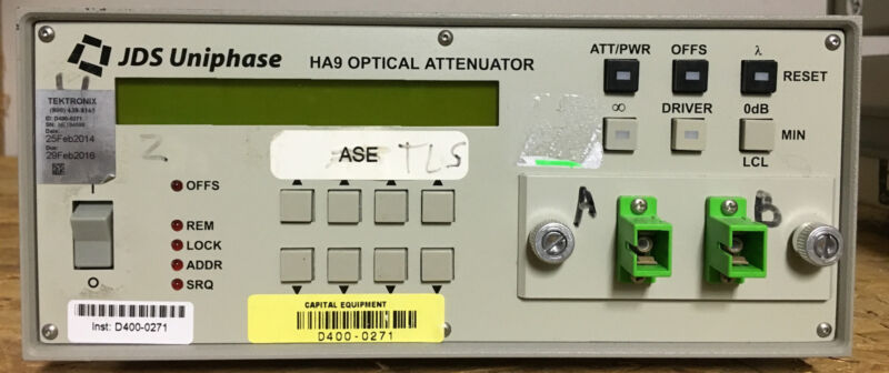 JDS Uniphase  JDSU HA9 HA097+20ASU1  Programmable Attenuator