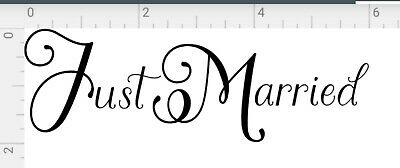 Just Married Sign Wedding Day Car Sticker Decorations Window Banner many colors Decorating Just Married Car