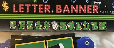 Texas Hold em 6.4 ft. Letter Banner Casino Party Supplies -