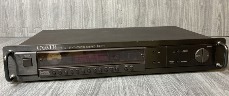 Carver TX-12 Vintage Synthesized Stereo Tuner - No Remote Rare