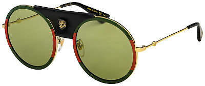Gucci Sunglasses GG0061S 017 Gold Frame | Green Lens