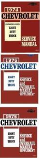 Chevrolet C20 C10 C30 K pickup truck workshop manuals on CD 1974