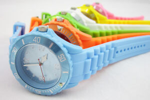 New-US-Seller-Fashion-Unisex-Silicone-Jelly-Candy-Dial-Quartz-Wrist-Watch-Bangle