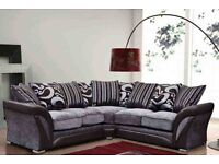 HAMAM CORNER SOFA OR 3 AND 2 SEATER SOFA IN BLACK AND CHOCOLATE BROWN COLOUR