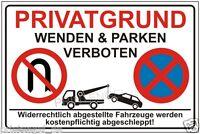 Estacionamiento, Warn - Signo De ,rótulo Indicador,privatgrund,girando Y -  - ebay.es