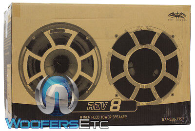 """WET SOUNDS REV8-W-SC 8"""" WHITE MARINE BOAT TOWER SPEAKERS PODS HORN TWEETERS NEW"""