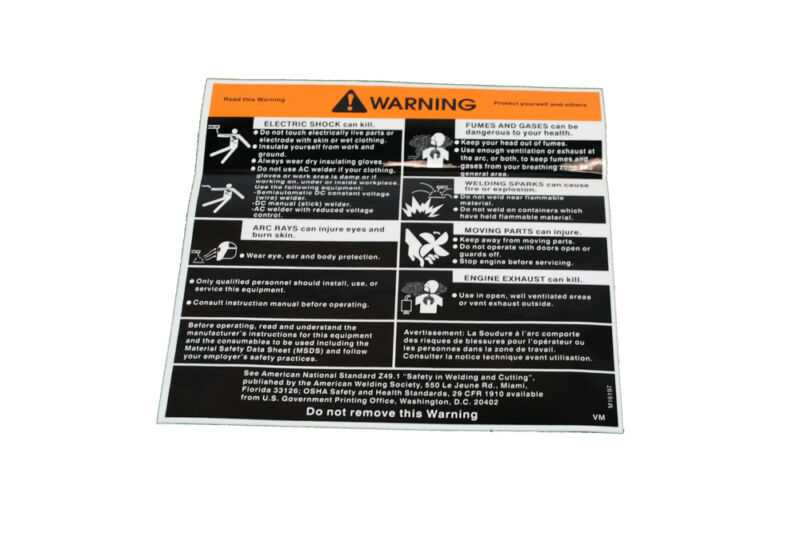 """Lincoln OEM General Warning Decal Sticker (M16197) 5 5/8"""" x 5 1/2""""  BW664"""