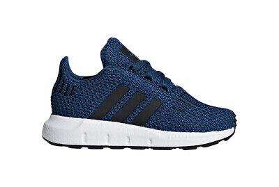 Adidas Originals Toddler's Swift Run Shoes NEW AUTHENTIC Blue/Black/White CG6953
