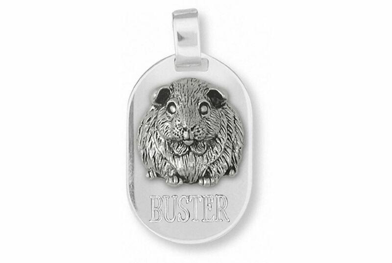 Guinea Pig Pendant Jewelry Sterling Silver Handmade Piggie Pendant GP1-DT