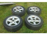 Set of r bmw alloy wheels drift track ect